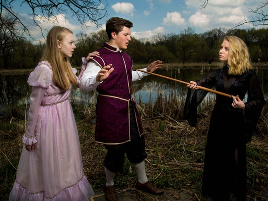 Rapunzel and her prince are confronted by the Witch