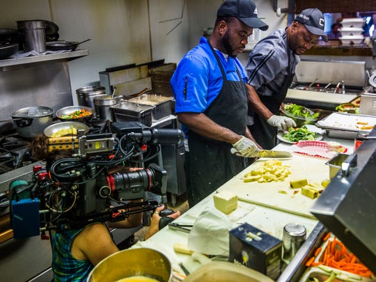 "A PBS television crew films an episode of the series ""A Place to Love"" at Grouper and Chips restaurant in Naples Wednesday, May 2, 2018. The PBS series looks to highlight ""little-known spots and haunts"" and also filmed in other locations in Naples for the show."