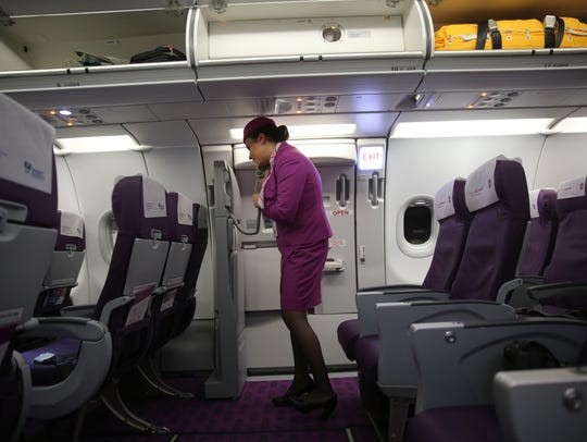 On board WOW Airlines.
