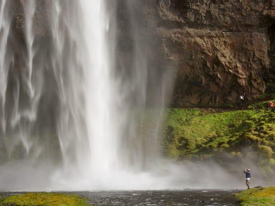 The power of the Seljalandsfoss waterfall.