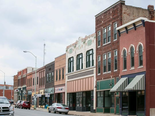 Many revitalization grants are available to downtown building owners,such as facade grants to modernize store fronts in Ottumwa, Iowa, shown here, Wednesday, May 23, 2018.