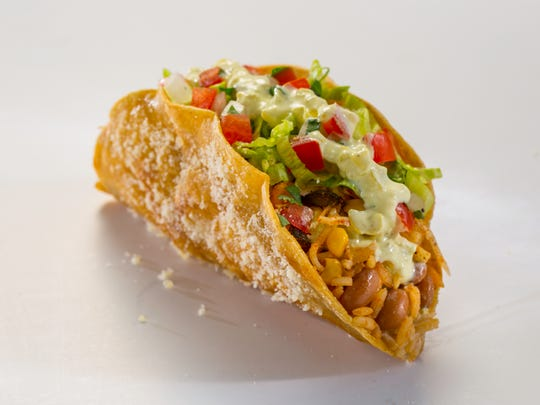 The spicy veggie masala taco is among the new items on the menu at Jimboy's Tacos.