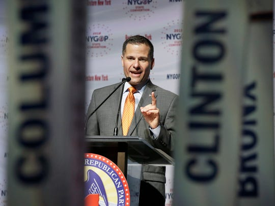 Dutchess County Executive Marc Molinaro delivers his