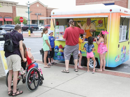 Food trucks participated in the Hendersonville Farmers
