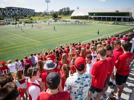 The scene during Saturday's Division I boys lacrosse