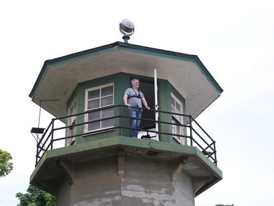 Tim Youd looks out from one of the old guard towers