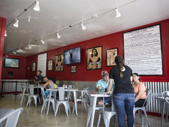 The interior of Chi Chi's Cafe is decorated with early