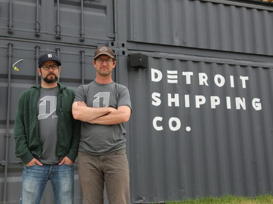 Detroit Shipping Co. co-owners James Therkalsen, left, and Jonathan Hartzell. Set to debut in the Cass Corridor in mid-July, Detroit Shipping Co. is one of a handful of new food halls in various stages of development around city.