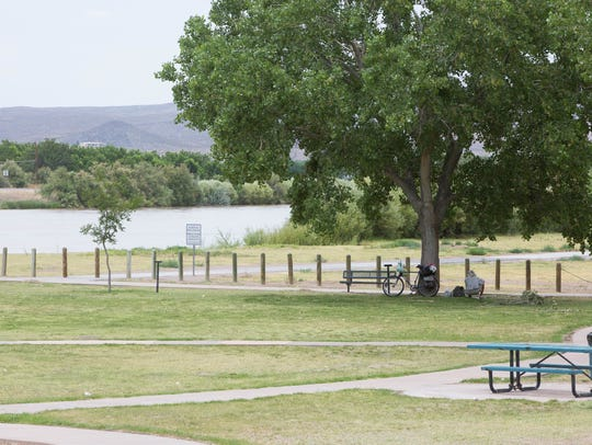 A view of La Llorona Park, which is marked as one of the parks that will become part of the Rio Grande Trail, Friday June 15, 2018. The Rio Grande Trail Commission met at the New Mexico Farm & Ranch Heritage Museum to discuss the master plan for the 500-mile recreation trail that is planned to transverse the state.