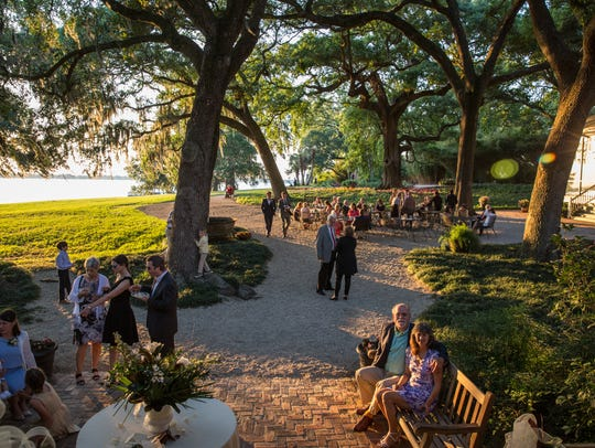 The evening reception was held at Rip Van Winkle Gardens.