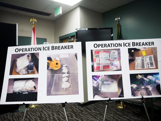 Images of methamphetamine from Operation Ice Breaker