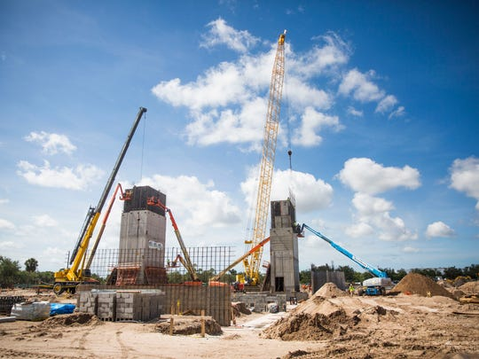 Construction continues on the Arthrex administrative building Tuesday, June 26, 2018, in North Naples.