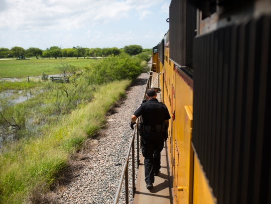 Union Pacific Special Agent Alfredo Rodriguez moves