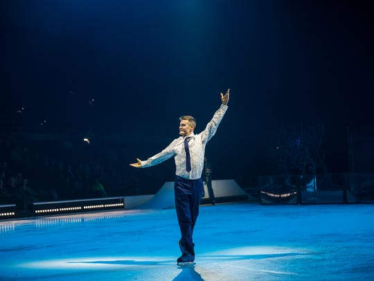 Professional ice skater Scott Smith plays a skating, tap-dancing businessman in Cirque du Soleil's new ice-skating show, 'Crystal.""