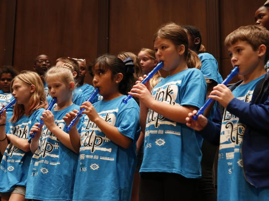 Link Up, a music education program developed by Carnegie Hall, held a performance at Ruby Diamond Hall in May. Giving children the opportunity to learn music can open doors.