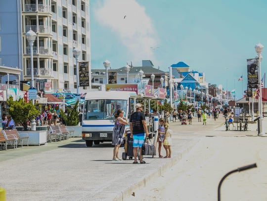 The 4th of July in Ocean City is bumper to bumper cars,