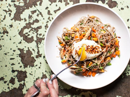 The soba noodle salad from The Larry restaurant in