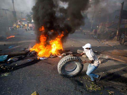 AP HAITI FUEL PROTEST I HTI