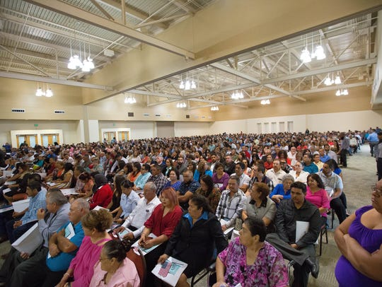 Two hundred an ninety three new U.S. citizens took