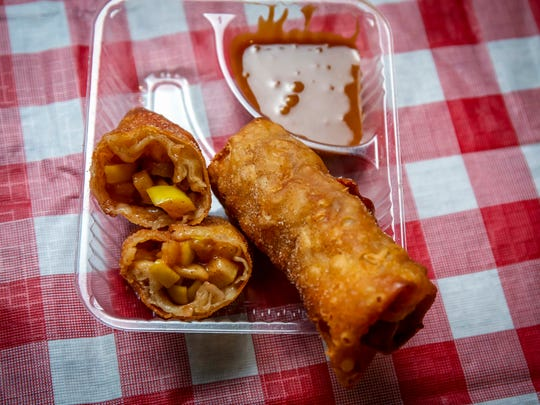 Apple Eggrolls by Applishus announced as a new food Tuesday July 17, 2018, at the Iowa State Fairgrounds.