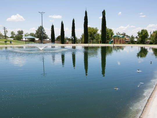 Young Pond at Young Park, 1905 E. Nevada Ave., is a convenient place for Las Crucens to go fishing.