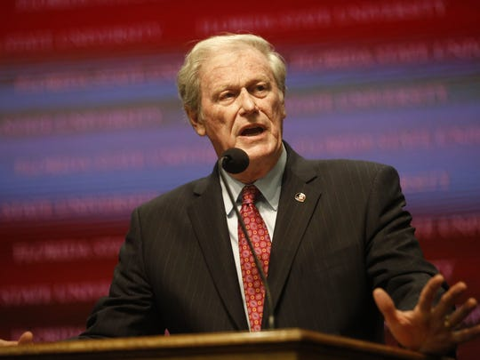 FSU President John Thrasher is accepting two of the