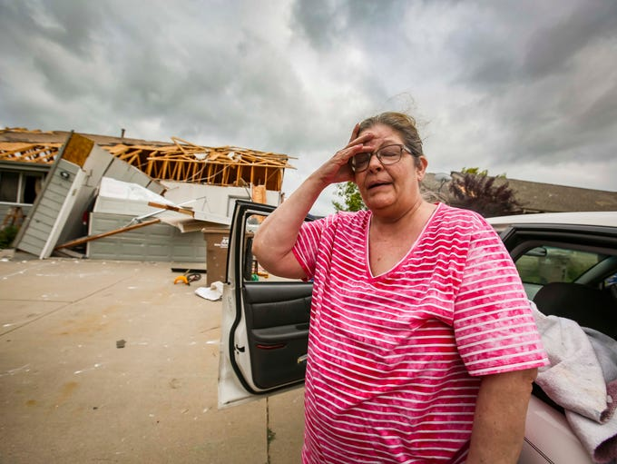 Susan Ratliff's home is destroyed on the west end of