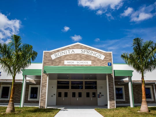The newly constructed Bonita Springs High School on