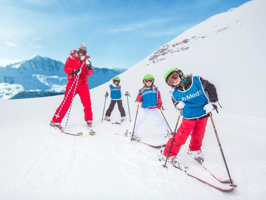 Enrolling in ski school in the Alps means you're learning
