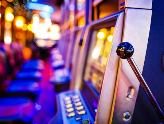 Slot machines Casino Stock photo