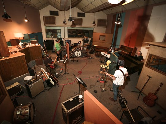 """Lucero records """"Among the Ghosts"""" at Sam Phillips."""
