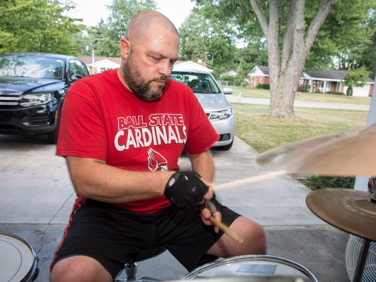 Stephen Merkle, a teacher at Monroe Central high school, plays with his band The No Good Riders. The 2000s alternative rock band has been set for about three to four years, typically playing at places such as Be Here Now about four to five times annually.