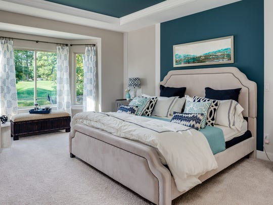 Greys and blues are popular choices for wall colors