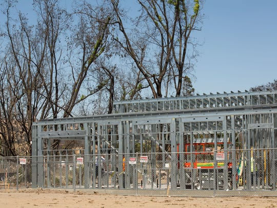 New Santa Rosa building codes include steel supports to minimize fire damage. California wildfire season is getting longer and more deadly each year.