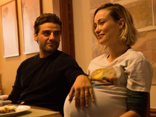 Will (Oscar Isaac) and Abby (Olivia Wilde) are expecting