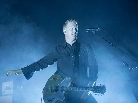 The Queens of the Stone Age perform in the Colosseum at the Arizona State Fair, Thursday, October 30th, 2014 in Phoenix.