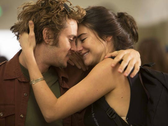 "Shailene Woodley (here with co-star Shiloh Fernandez) is engaging as ever as Kat in ""White Bird in a Blizzard."""