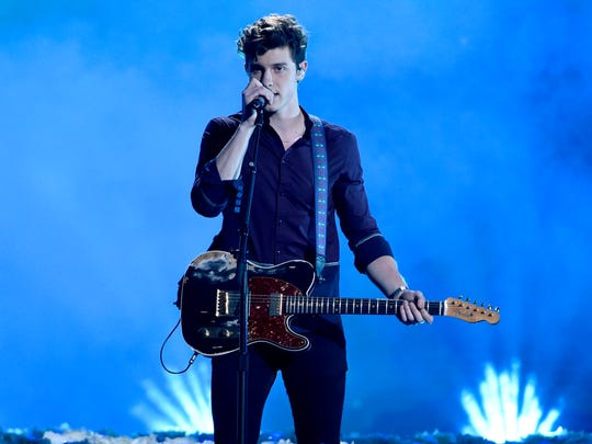 "Shawn Mendes performs ""In My Blood."""
