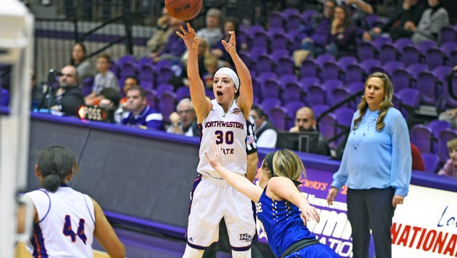 Beatrice Attura set career highs in points, field goals, field goal attempts, 3-pointers and 3-point attempts against McNeese State University Saturday. But the Cowgirls (6-6, 1-0) limited the Lady Demons (6-6, 0-1) two one field goal in the final 7:11 of the game.