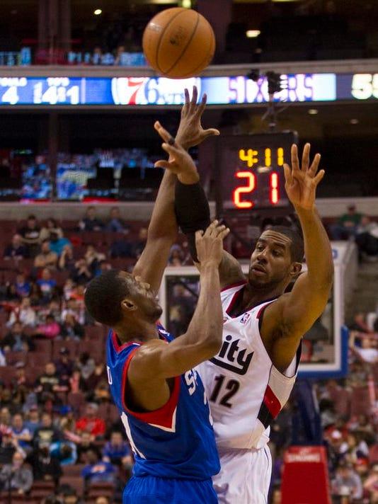 Trail Blazers 76ers Basketball
