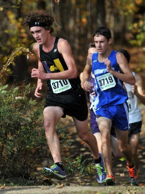 Unioto's Cole Clever competes at the regional cross country meet on Saturday at Pickerington North High School in Pickerington.