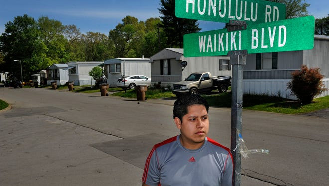 Jose Delgado, 19, says that Country Meadows, a mobile home community near Mill Creek, is set up like an island and all the streets have Hawaiian names. During the flood in 2010, he helped his father salvage items and food before they fled their trailer.