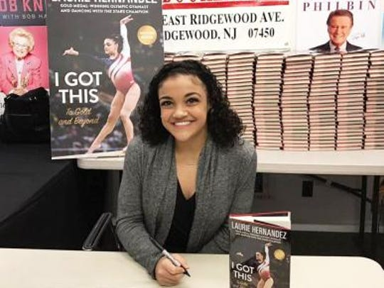Olympic gold medalist Laurie Hernandez appeared at the second annual KidFest at the Morristown Festival of Books on Oct. 14.