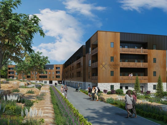 """""""Quarry Town"""" will feature a mix of multifamily residential,"""