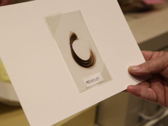 A lock of President Abraham Lincoln's hair in the offices