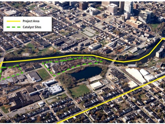 Area where redevelopment will occur on the Brandywine riverfront.