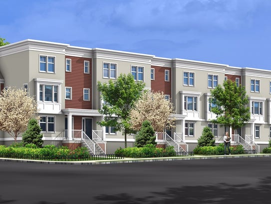 A rendering of the forthcoming Gateway Townhomes on