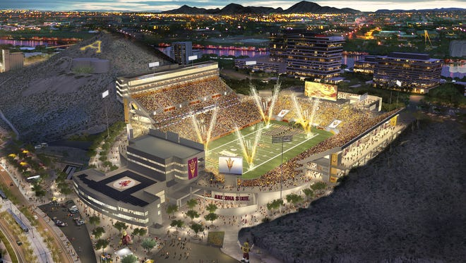 The reinvented Sun Devil Stadium preserves the history and iconic views while bringing fans an upgraded fan experience including wider walkways, a variety of seating options, improved concessions and restrooms and better ADA accessibility.