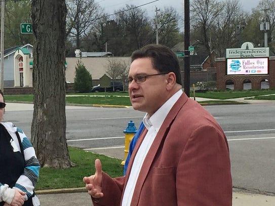 Historian Frank Nally leads a walking tour through