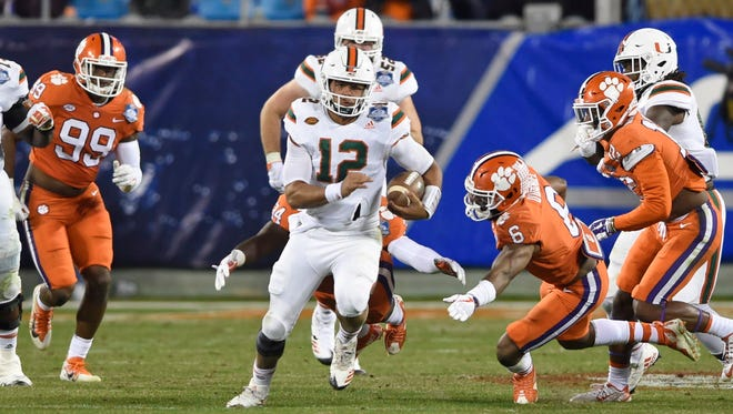 Miami's Malik Rosier will cause problems for the Badgers because he isn't afraid to run.